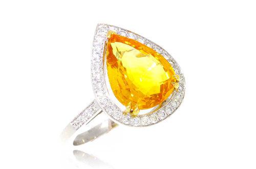 Yellow Joaillerie Saphir Bague Jaune Daisy Boutique zSUVpM